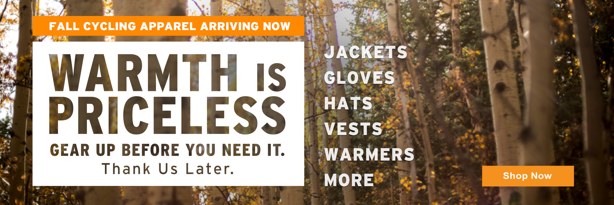 It's Fall! And it's getting cold! We'll help you stay warm!